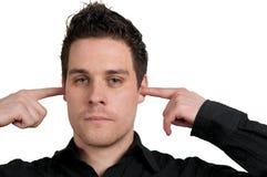 слушать не Стоковые Изображения