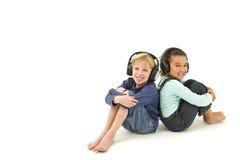 слушать совместно Стоковые Изображения RF