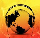 слушая мир Стоковое фото RF