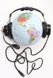 слушая мир Стоковая Фотография