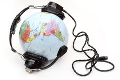 слушая мир Стоковое Изображение