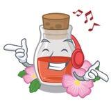 Слушая музыка подняла масло семени форма мультфильма бесплатная иллюстрация