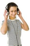 слушая нот к детенышам женщины Стоковые Фотографии RF