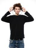 слушая нот человека Стоковые Изображения RF