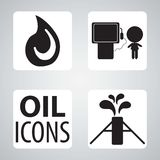 Смажьте иконы Стоковые Фото