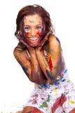 смазанная краска gir счастливая Стоковые Изображения