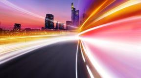 смазанный городом свет hight Стоковое Фото