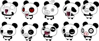 Смайлик панды Стоковое Фото