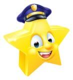 Смайлик Emoji полиции звезды Стоковые Изображения RF