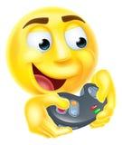 Смайлик Emoji Gamer Стоковое Изображение