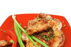 Смачная еда: зажаренный в духовке цыпленк цыпленок Стоковое Фото