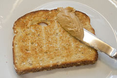 Смачное арахисовое масло на здравице Стоковое Изображение RF