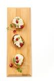 Смачный салат тунца Crostini Стоковое Изображение RF