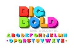Смелейший красочный шрифт 3d иллюстрация штока