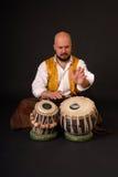 смелейший turkish tabla выстукивания musicion барабанчика Стоковое Изображение RF
