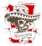 Смертельно мексиканец иллюстрация штока