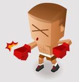Смертельный пунш бокса бесплатная иллюстрация
