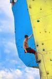 Смертная казнь через повешение альпиниста на веревочке Стоковое фото RF