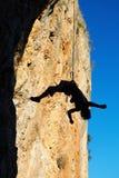 Смертная казнь через повешение альпиниста на веревочке Стоковое Изображение