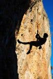 Смертная казнь через повешение альпиниста на веревочке Стоковые Изображения RF