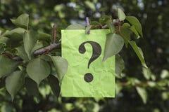 Смертная казнь через повешение вопросительного знака на дереве Стоковое Фото