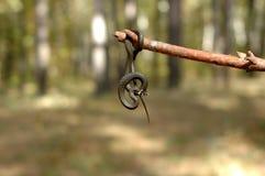 Смертная казнь через повешение змейки травы на ручке Стоковые Фото