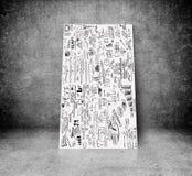Смертная казнь через повешение изображения на стене Стоковые Изображения