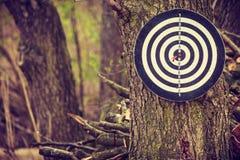 Смертная казнь через повешение на дереве, внешнее воссоздание Dartboard Стоковые Фото