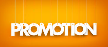 Смертная казнь через повешение продвижения слова на оранжевой предпосылке Стоковое Изображение RF