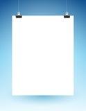 Смертная казнь через повешение пустой страницы на строках Стоковые Фото