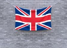 Смертная казнь через повешение флага Великобритании на кирпичной стене стоковые фото