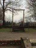 Смертная казнь через повешение Aushwitz Стоковое фото RF