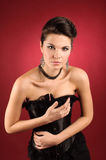 смертоносная женщина стоковая фотография rf