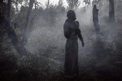 Смерть в демоне дыма стоковые фотографии rf