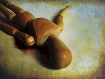 Смерть деревянной диаграммы иллюстрация вектора
