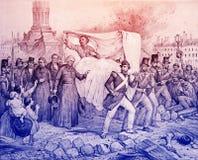 Смерть Джорджа Вашингтона иллюстрация штока