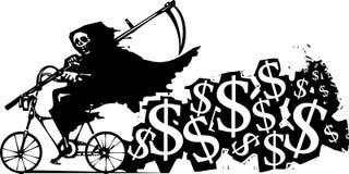 Смерть и поднимая тарифы страхования Стоковые Изображения