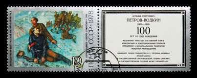 Смерть комиссара k Petrov-Vodkin, 1928, столетие рождения  стоковое фото rf