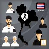 Смерть короля Таиланда бесплатная иллюстрация