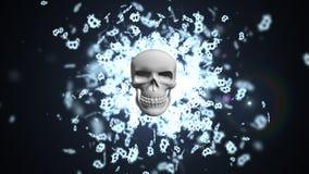Смерть к Bitcoin Большое количество bitcoins Предпосылка bitcoins бесплатная иллюстрация