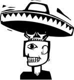 Смерть под шлемом иллюстрация вектора