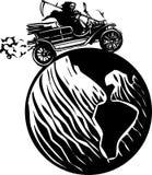 Смерть управляя по всему миру иллюстрация вектора