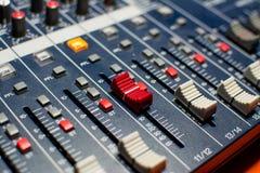Смеситель студии красной кнопки Стоковая Фотография RF