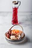 Смесь высушенных плодоовощей и гаек Стоковая Фотография RF