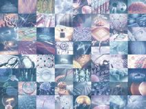 Смесь мозаики науки технологии иллюстрация вектора