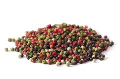 Смесь перца перцев горячего, красного перца, черного перца, белого p стоковое фото