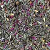 Смесь чая, цветков и сухофрукта Стоковые Фотографии RF