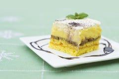 Сметанообразный десерт Стоковое Фото