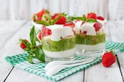 сметанообразный десерт Стоковое Изображение RF