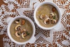 сметанообразный суп гриба суп гриба Стоковое Изображение